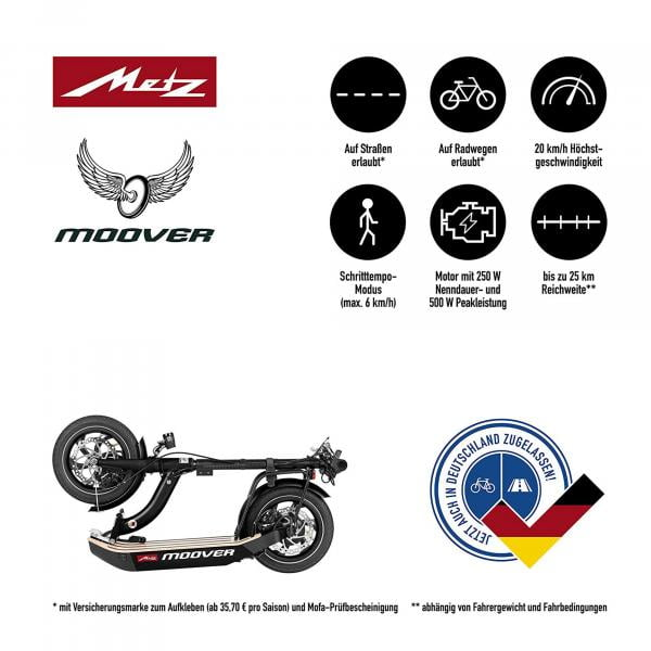 Metz moover cremewhite E-Scooter
