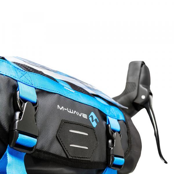 M-WAVE Lenkertasche blau